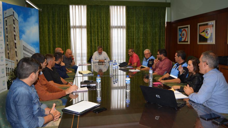 Reunión técnica celebrada este jueves en el Cabildo.