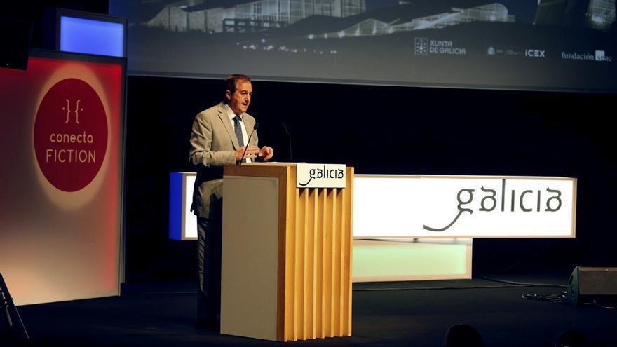 Eladio Jareño en la inauguración del Conecta FICTION