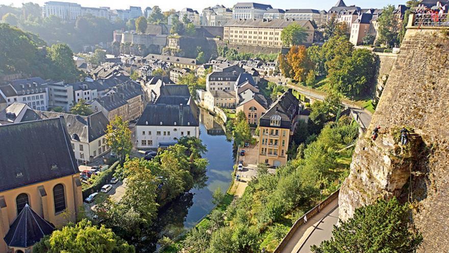 Panorámica del Chemin de la Corniche, en el casco histórico de Luxemburgo. CC  Dennis Jarvis vía Flickr