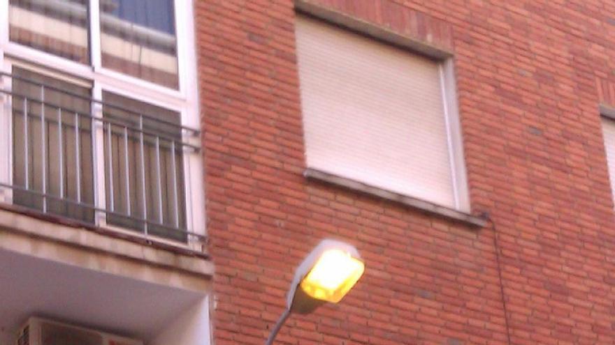 Foto de la farola de mi calle a las 11:30 en Albacete (Virginia Lozano)