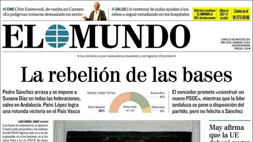 Portada El Mundo 22/05/17