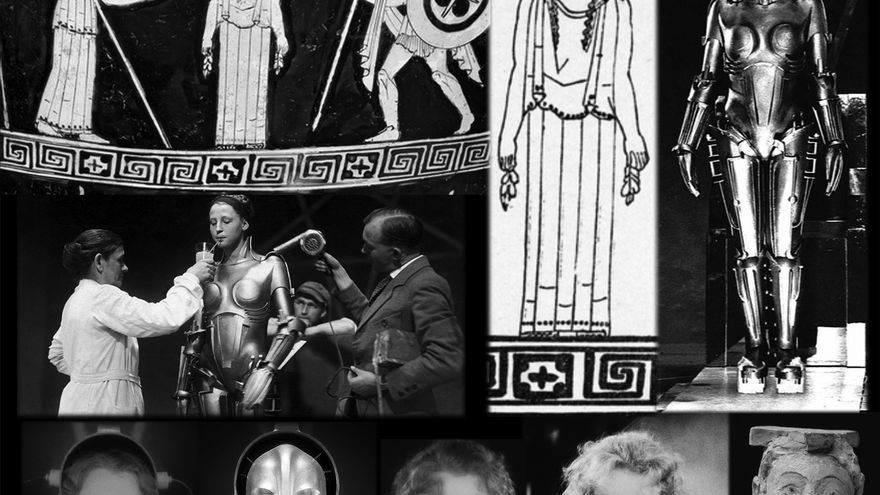 Coincidencias en los retratos antiguos y modernos de un robot femenino malvado. Paralelismos entre Pandora, preparada por los dioses para su misión en la tierra, y el robot María en la película 'Metrópolis' (1927)