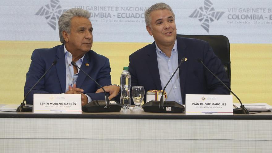 Los presidentes de Ecuador y Colombia tratarán agenda bilateral el próximo jueves