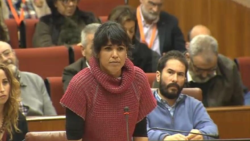 """Teresa Rodríguez (Podemos) defiende el diálogo y critica que """"de nuevo Rajoy se blinde frente a amenazas soberanistas"""""""