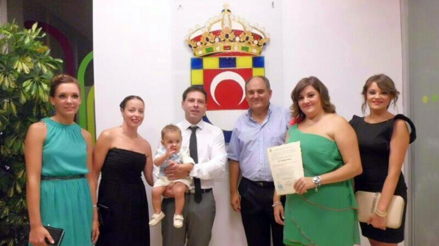 Huétor Tájar celebra el primer bautizo civil del municipio