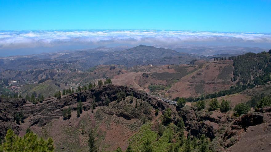 Norte de Gran Canaria desde el Mirador de Los Pinos de Gáldar.