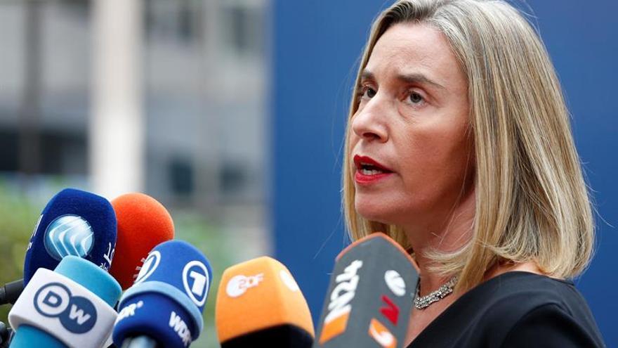 """Mogherini reconoce """"momento delicado"""" de pacto con Irán por amenazas de Trump"""
