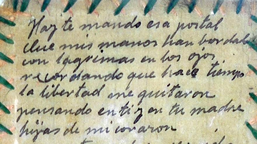 Carta de Blasa a su nieta Pepa desde la cárcel de Amorebieta. | FAMILIA OREJÓN
