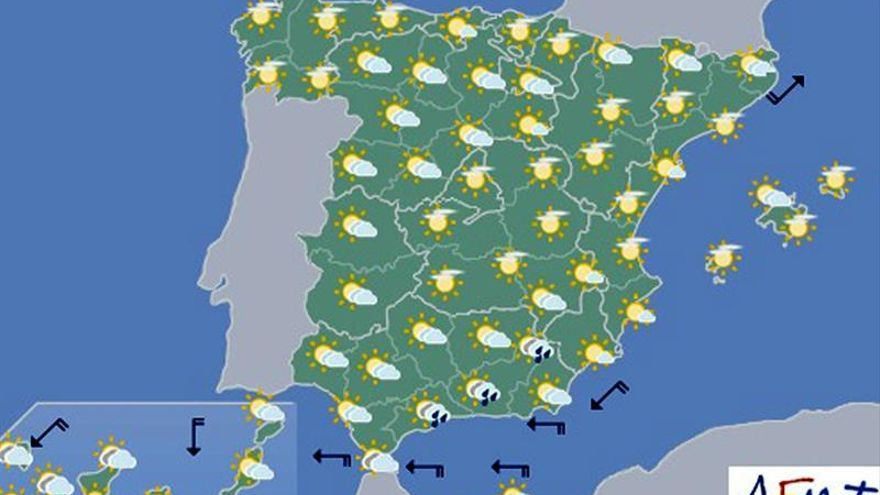 Hoy habrá posibilidad de granizadas fuertes en Andalucía oriental