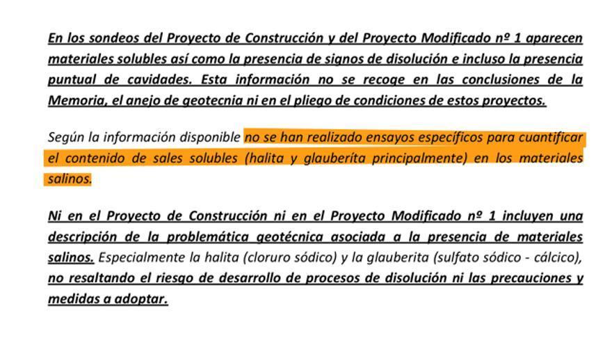 Extracto del informe de la Comunidad de Madrid (2016).