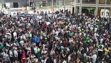 Miles de manifestantes toman la Gran Vía para pedir la regulación de la marihuana