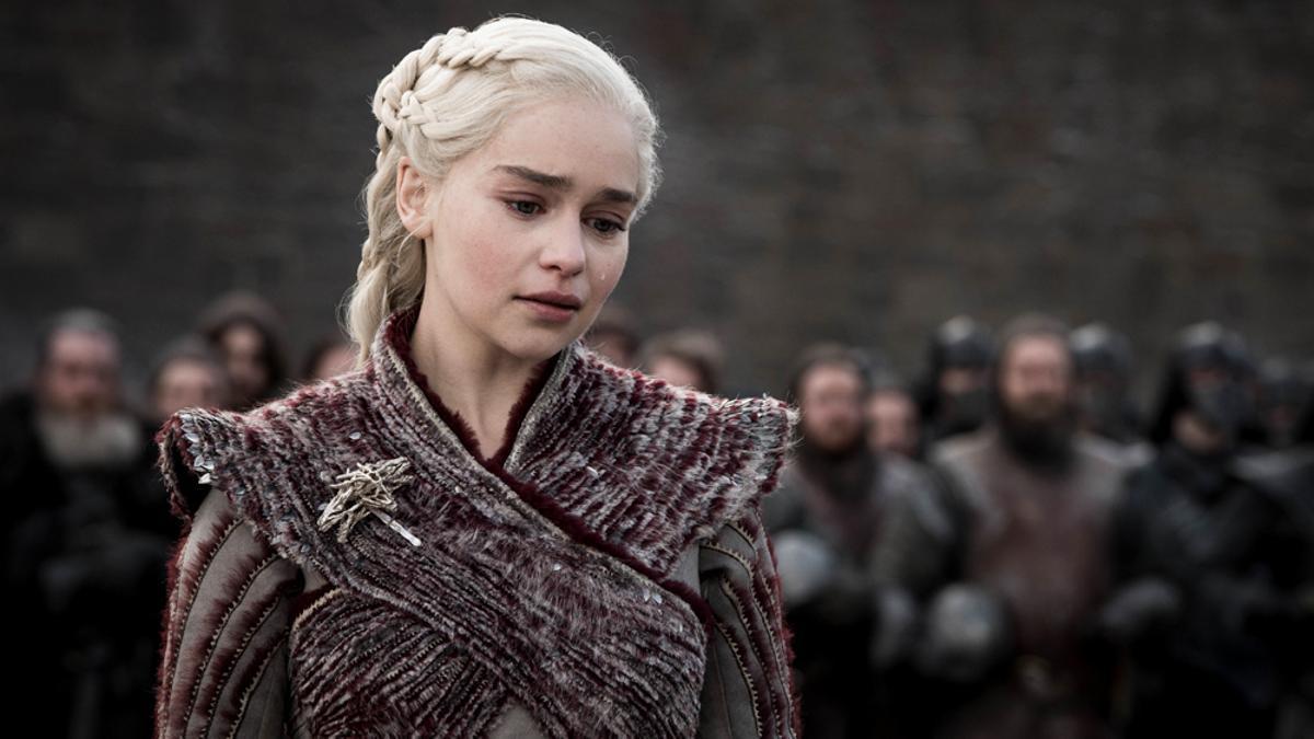 Emilia Clarke en una escena de 'Juego de Tronos'