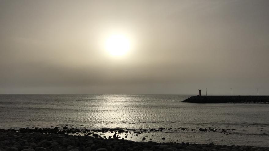 Playa de La Aldea de San Nicolás. Eclipse de sol
