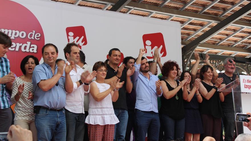 Los candidatos de Ganar la Región de Murcia, tras su acto central de campaña / PSS