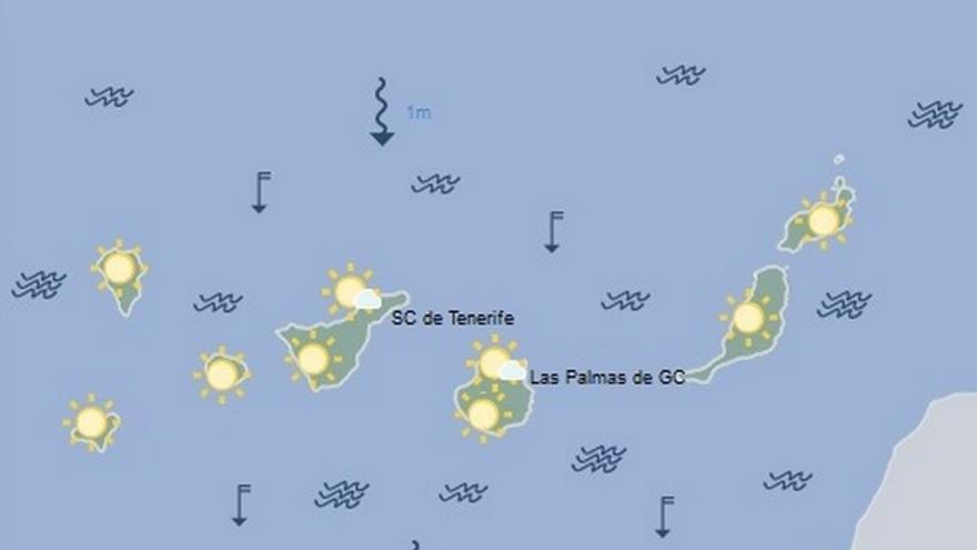 La previsión del tiempo en Canarias para este lunes, 18 de julio