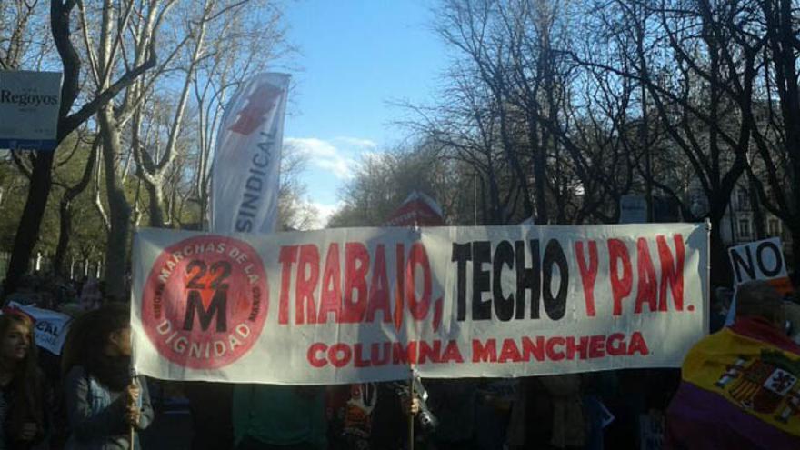 Columna de Castilla-La Mancha de las Marchas por la Dignidad / Foto: STE