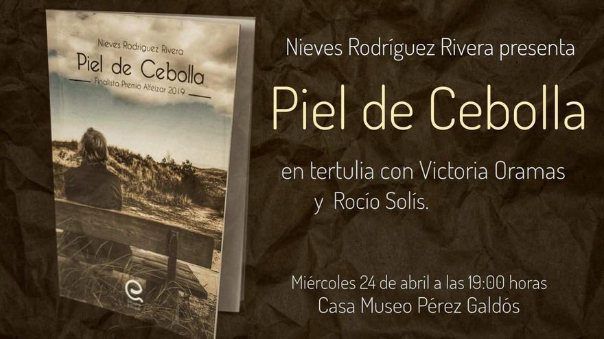 Cartel de presentación de la novela.