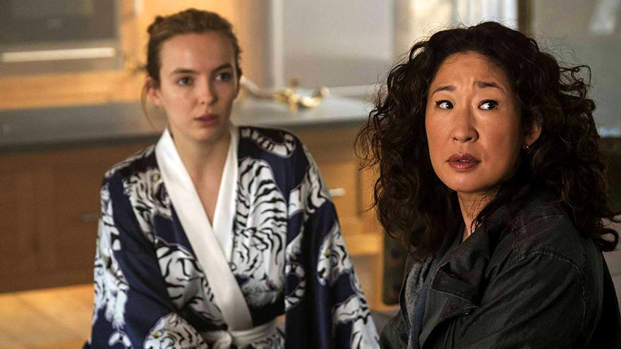 Jodie Comer y Sandra Oh, en un capítulo de Killing Eve
