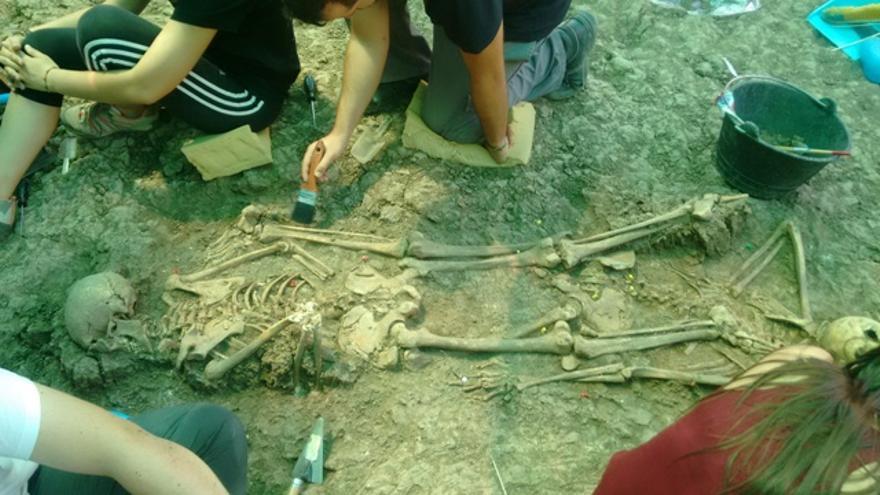 Uno de los cuerpos recuperados en Villanueva de la Serena / Ayuntamiento