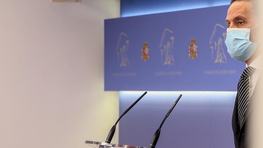 El portavoz parlamentario de Ciudadanos, Edmundo Bal, interviene en una rueda de prensa