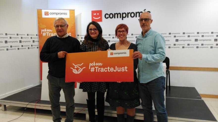 Joan Ribó, Mónica Oltra, Àgueda Micó y Julià Àlvaro