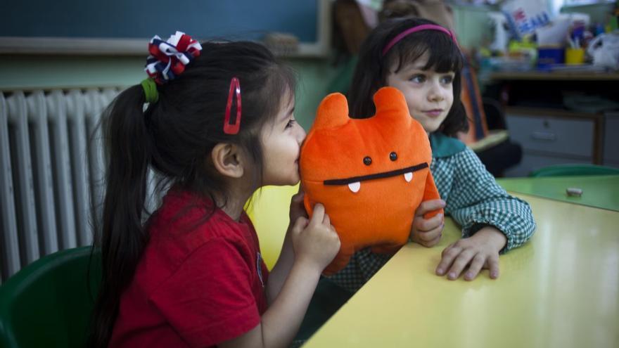 Niñas que participan en el programa educativo Ahora Toca (Celia Hernández/ Ayuda en Acción)
