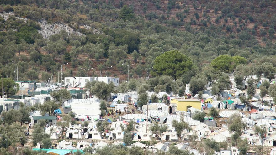 Imagen del campo de Moria.