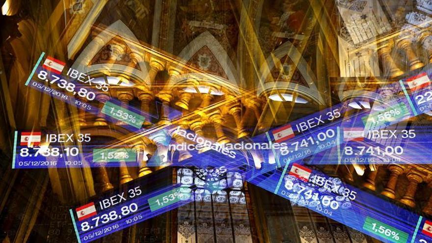 La Bolsa española supera el nivel de los 8.700 puntos, con un alza del 1,6 %