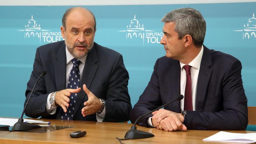 José Luis Martínez Guijarro y Álvaro Gutiérrez en el encuentro mantenido en la Diputación de Toledo