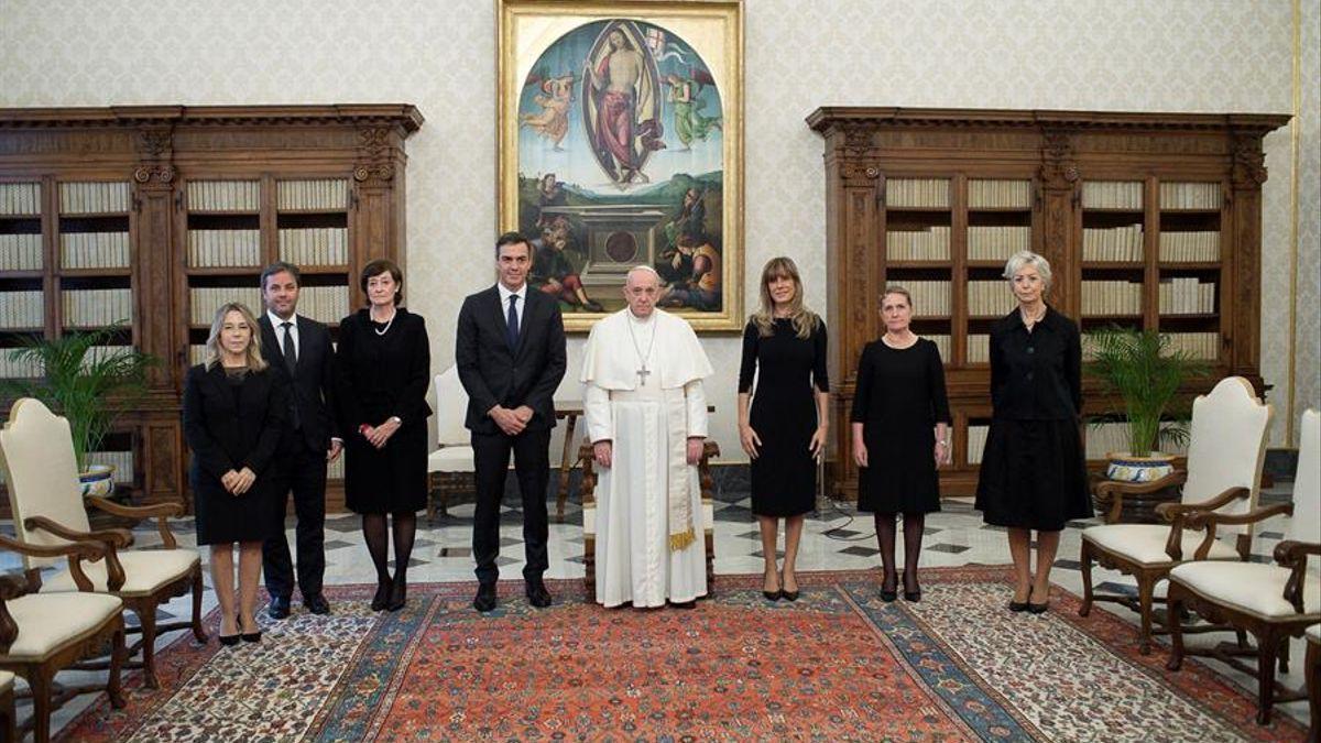 Visita de Pedro Sánchez al Papa