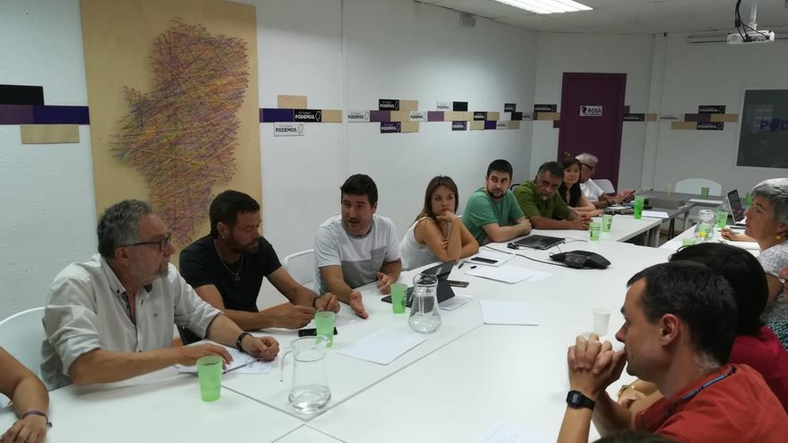 Consejo Ciudadano Extraordinario de Podemos Aragón, celebrado este martes