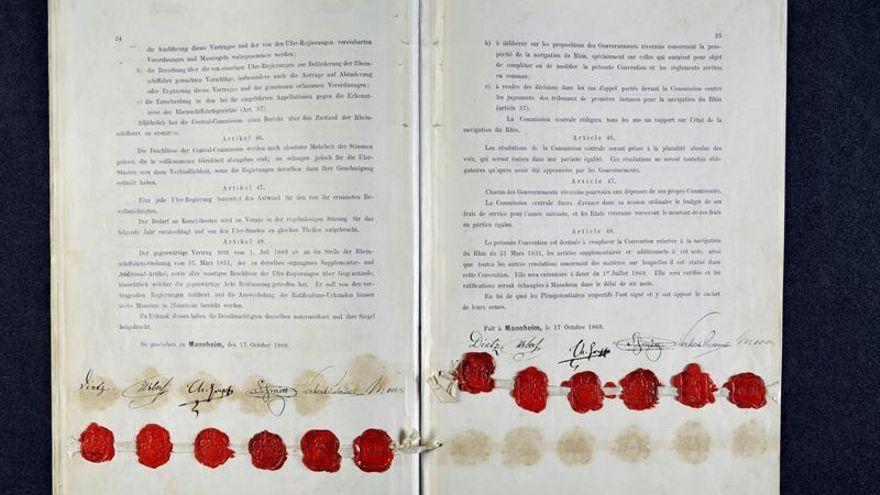 El Acta de Mannheim celebra 150 años regulando la navegación del Rin