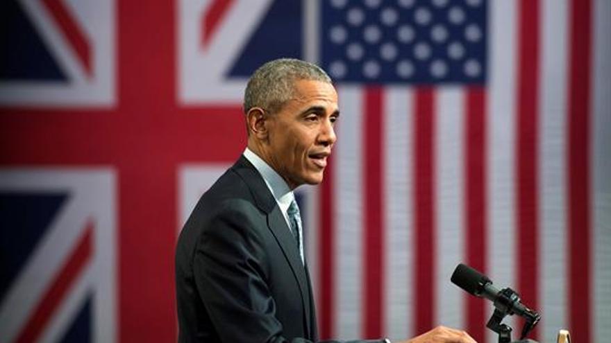 El presidente de los Estados Unidos, Barack Obama, este viernes en Londres