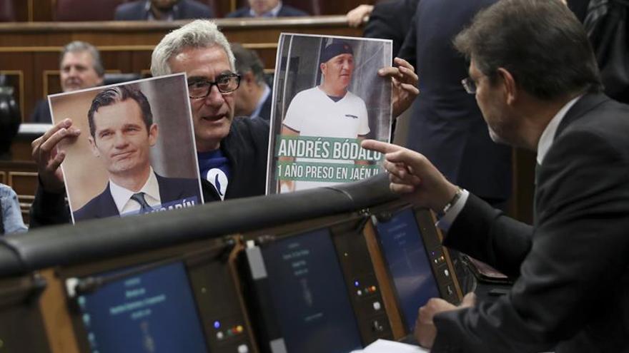 """El Congreso aprueba amonestar verbalmente a Cañamero por """"intimidar"""" a Catalá"""