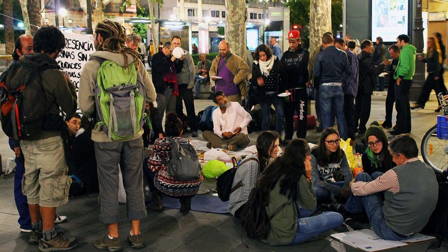 Personas sin hogar. / Juan Miguel Baquero