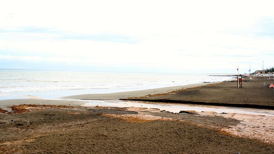 Desembocadura del Barranco en La Playa de San Agustín