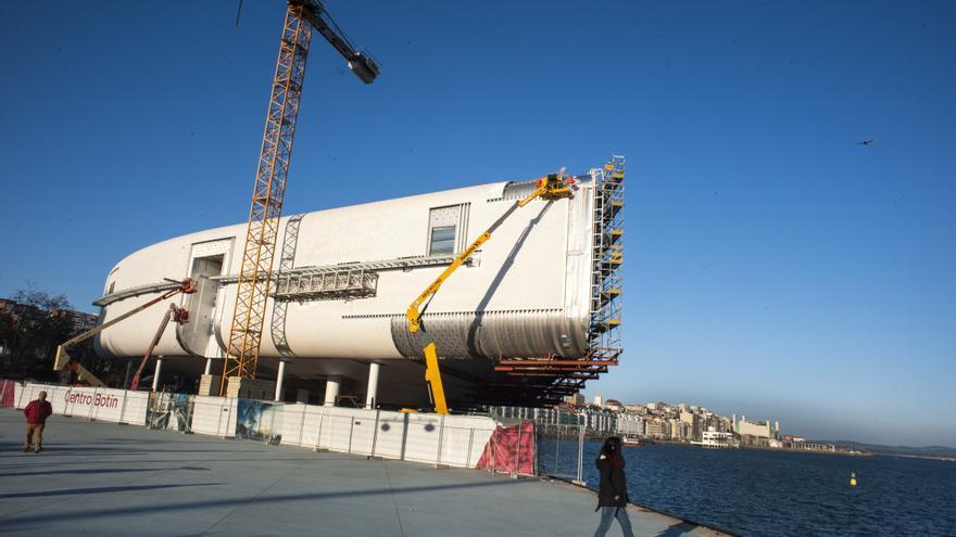Obras del Centro Botín en el entorno de la Bahía de Santander. | JOAQUÍN GÓMEZ SASTRE