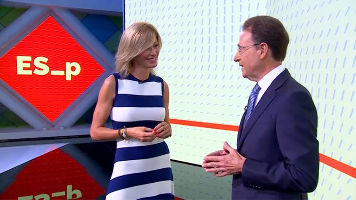 Susanna Griso y Matías Prats en el plató de 'Espejo Público'