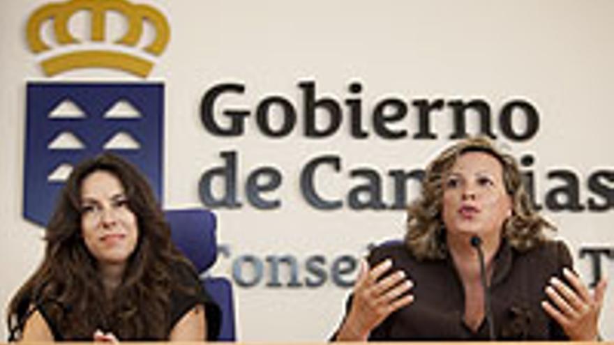 Rita Martín (la de la derecha) y Yolanda Perdomo.