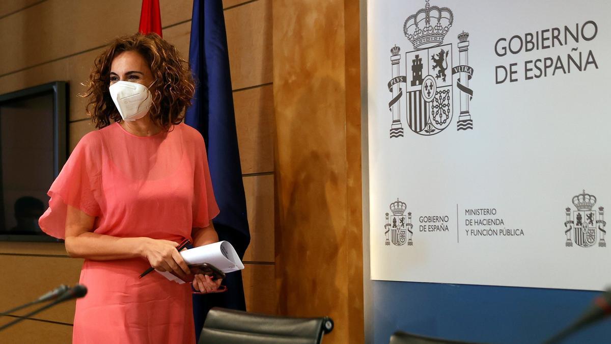 La ministra de Hacienda, María Jesús Montero, en una fotografía de archivo. EFE/Chema Moya