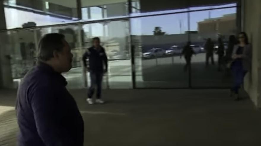 Miguel Ángel Ramos, a su entrada a los juzgados. (FOTOGRAMA DE ANTENA3)