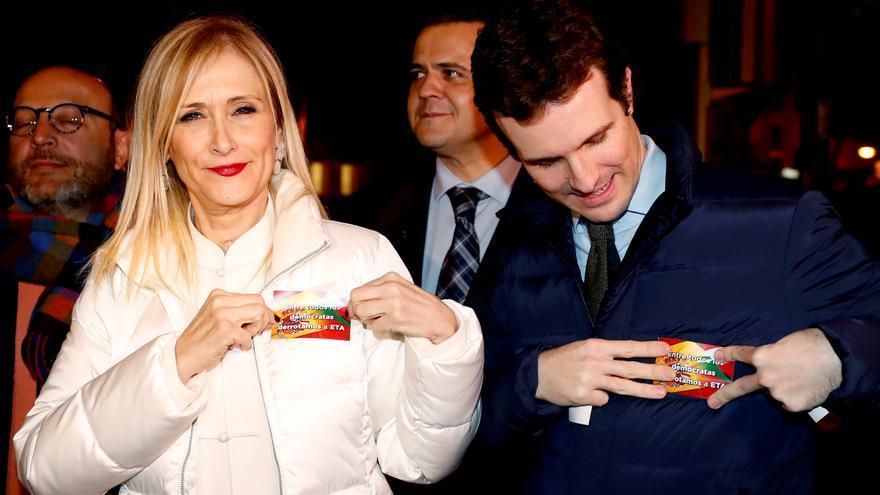 Pablo Casado y Cristina Cifuentes, juntos en el homenaje organizado por el Partido Popular a Gregorio Ordóñez en enero