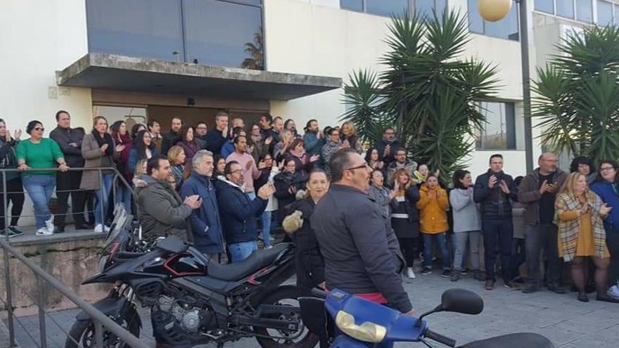 Imagen de una concentración de los trabajadores de Konecta.