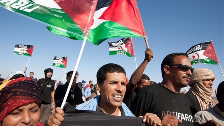 Manifestación ante la sede de la ONU en el Sáhara