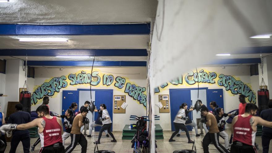 Una de las clases del proyecto Hortaleza Boxing Crew