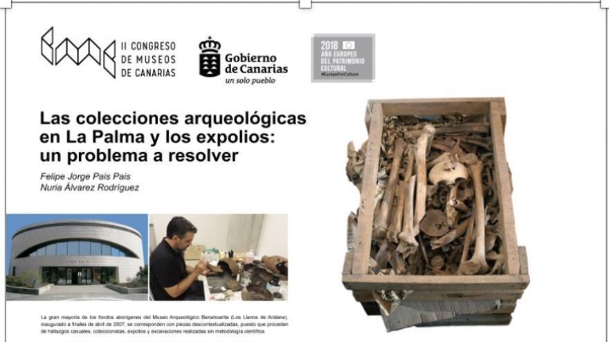 Póster del II Congreso de Museos de Canarias.