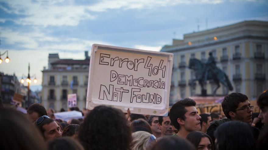 """Internet, muy presente en las nuevas formas de protesta. Foto: """"Not Found"""" (Sergio Rozas)"""