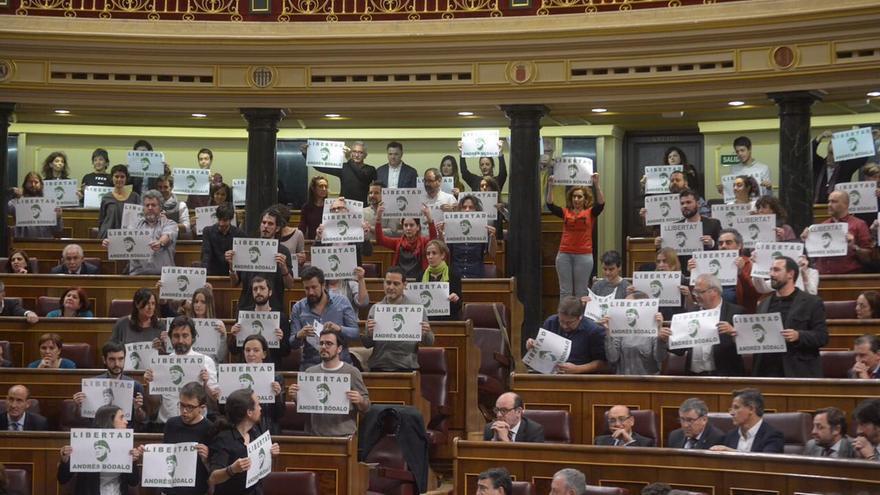 Apoyo a Andrés Bódalo en el Congreso