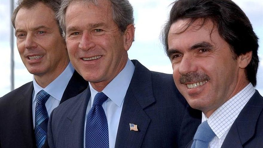 Blair, Bush y Aznar acordaron en las Azores no continuar vía de la ONU, según el informe Chilcot