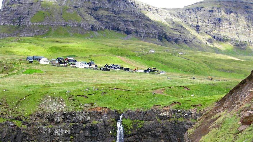 Casada de Gasadalur, en las islas Feroe.